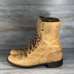 Justin Leather Vintage Western Roper Kilt Boots